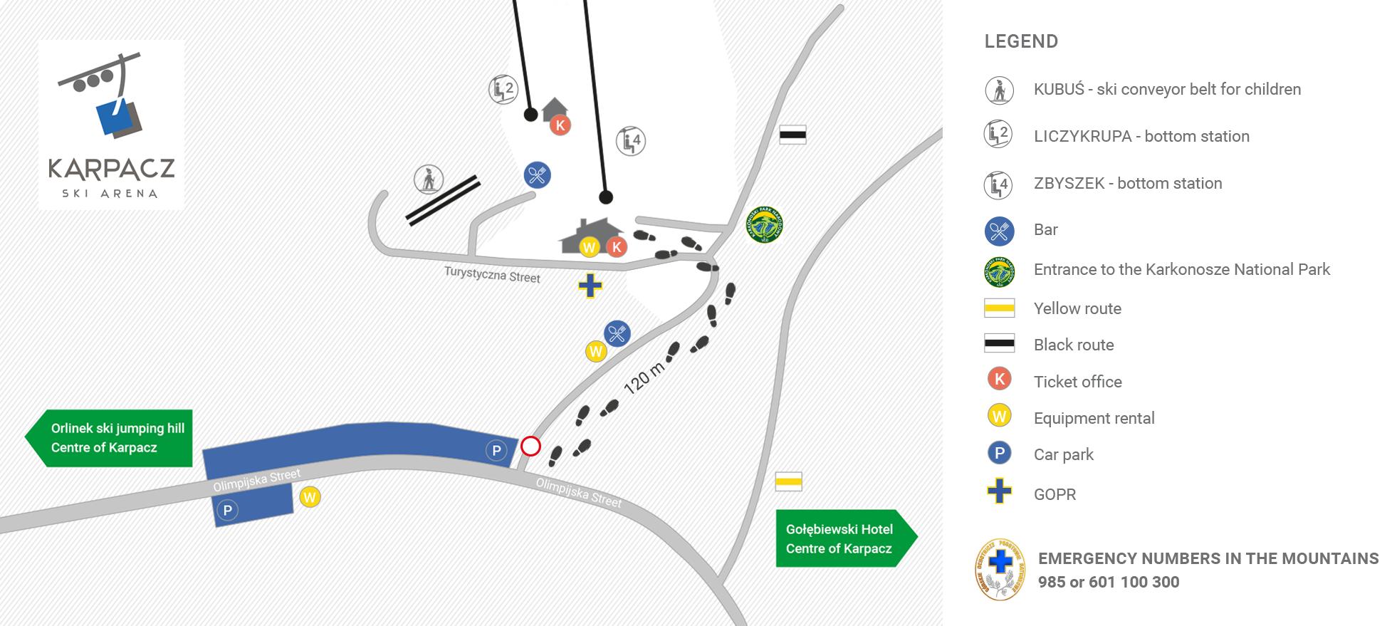 Karpacz Ski Arena_Car park and access