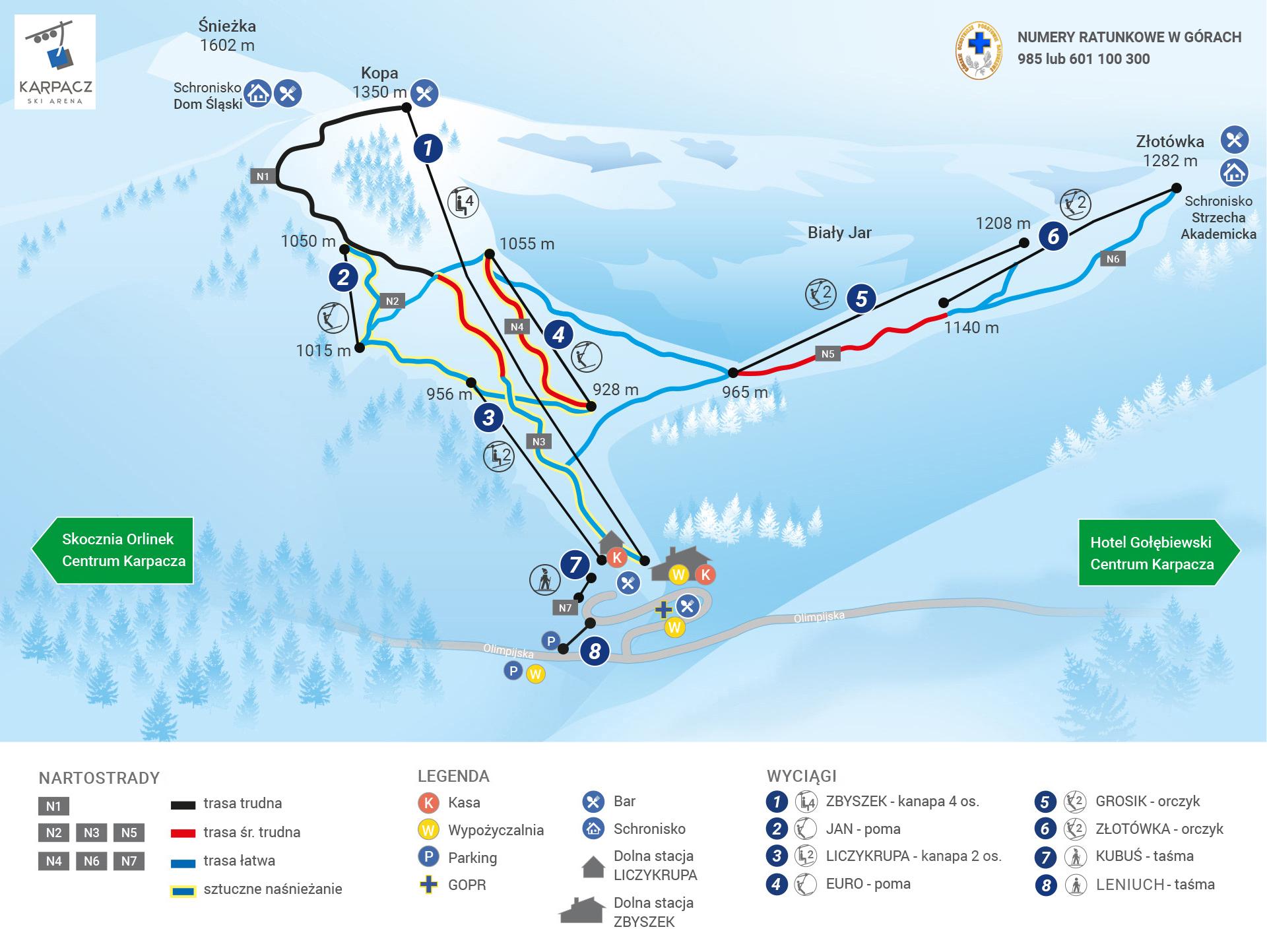 Trasy narciarskie Karpacz Ski Arena Karpacz