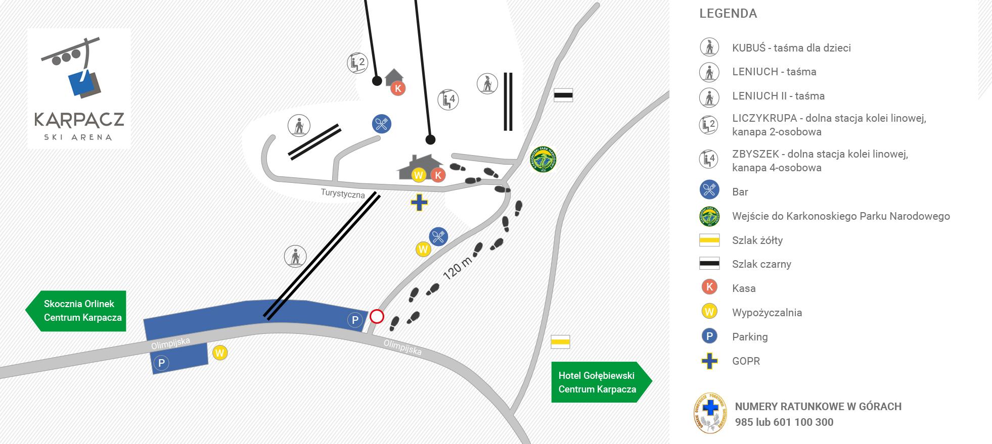 Dojazd i parking Karpacz Ski Arena
